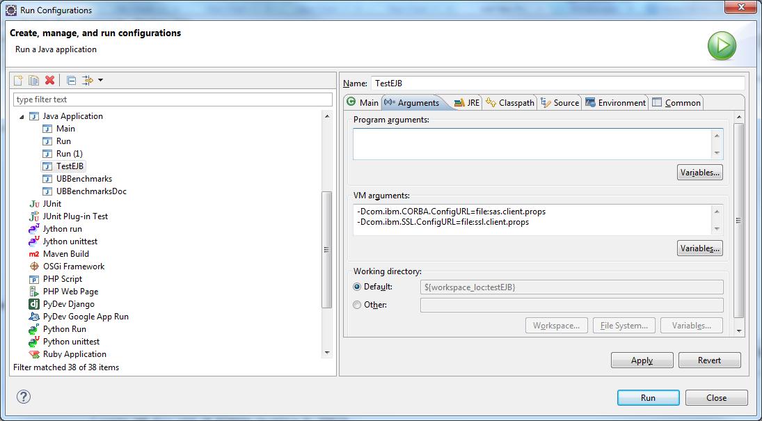 Eclipse_EJB_JVM_options